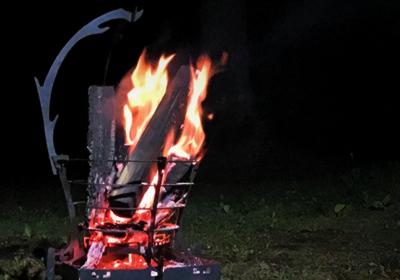 焚火を、良き思い出に